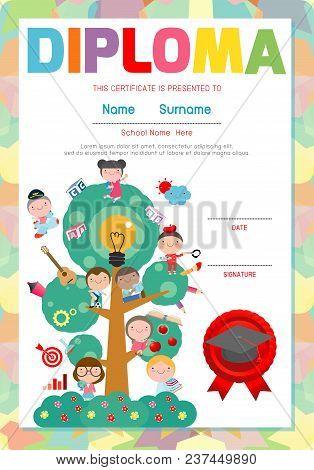 images of certificate kids diploma kindergarten template layout