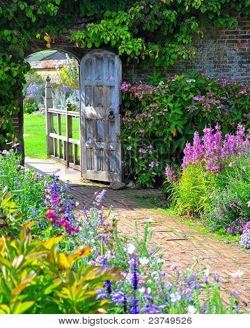 Blue England English Flower Garden