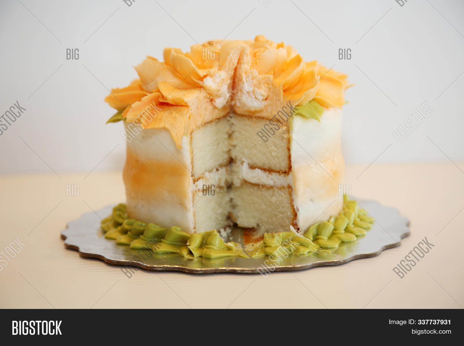 Birthday Cake. Beautiful Cake ready to be served at a party or event. Cake is enjoyed world wide for any special occasion and even as a special treat. Enjoy some cake today.