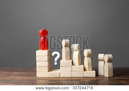 The leader makes it impossible to overthrow him and replace. Lack of a social elevator, usurpation of power. Prevention of leadership positions, corruption and nepotism. Distrust of people around stock photo