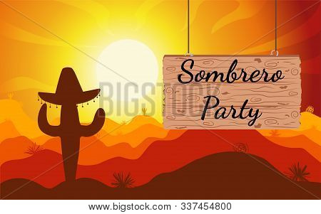 Sunset or Sunrise in Africa with the silhouettes of trees, grass, flying birds, elephants, giraffes, national home and native. The beautiful landscape of the African savannah, can be used for background, backdroop, banner for tourism, poster. Vector illus stock photo