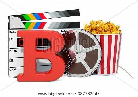 B movie rating system concept. 3D rendering isolated on white background stock photo