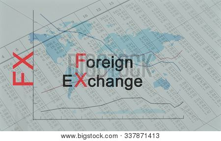 Acronym FX - Foreign Exchange - Business, Finance stock photo