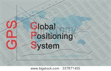 Acronym GPS - Global Positioning System - Business stock photo