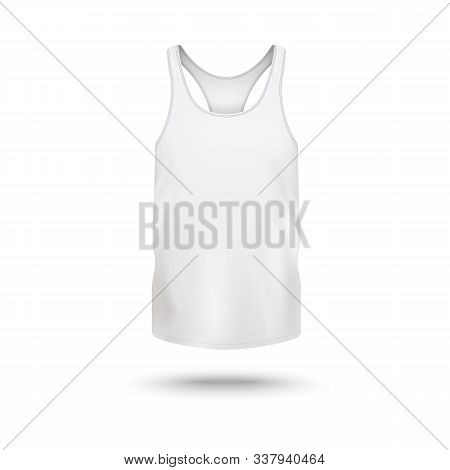 Women active wear t-shirt white template realistic vector illustration isolated. stock photo