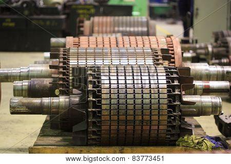 The electric motor rotor of stock. repair stock photo