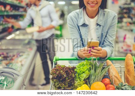 Couple In The Supermarket