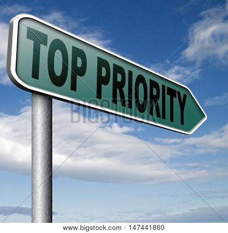 top priority important very high urgency info lost importance crucial information  act now or never 3D illustration stock photo