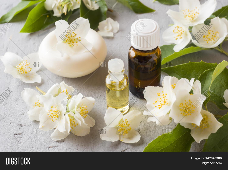 Jasmine Oil Aromatherapy With Jasmine Oil And Soap Jasmine Flower