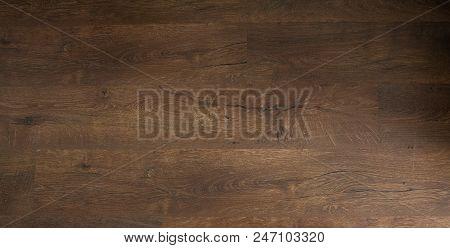 dark oak floor. wooden floor, oak parquet - wood flooring, oak laminate. stock photo