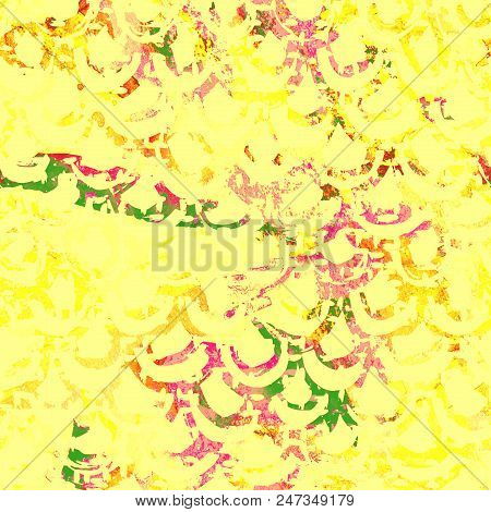 Yellow tie dye seamless pattern. Print texture waves. Geometrical seamless stripes. Watercolour pattern. Striped watercolor texture batik. Organic japanese natural tiles. Blue and white print. stock photo
