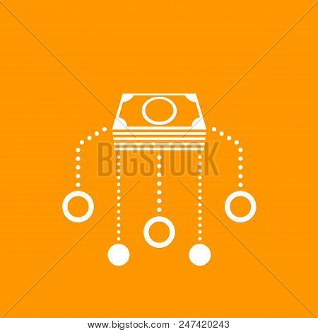 Financial assets diversification, interest return, funding, investments icon stock photo