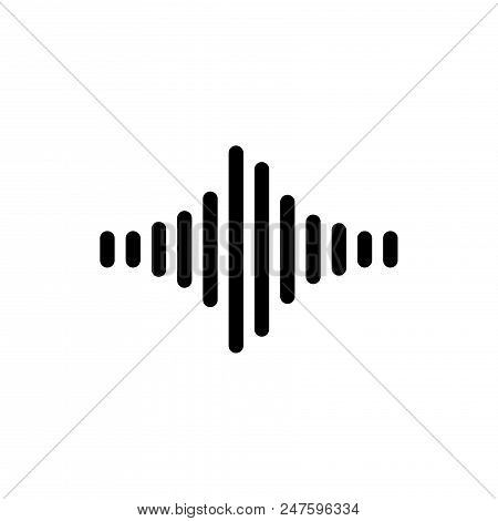 Sound vector icon flat style illustration for web, mobile, logo, application and graphic design. Sound vector icon simple sign and modern symbol, EPS10. Sound vector icon pictogram isolated on white background. stock photo