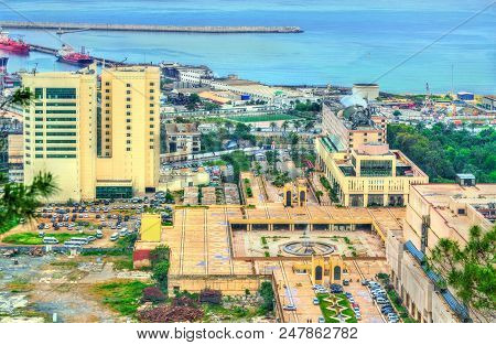 View of the city centre of Algiers, the capital of Algeria stock photo