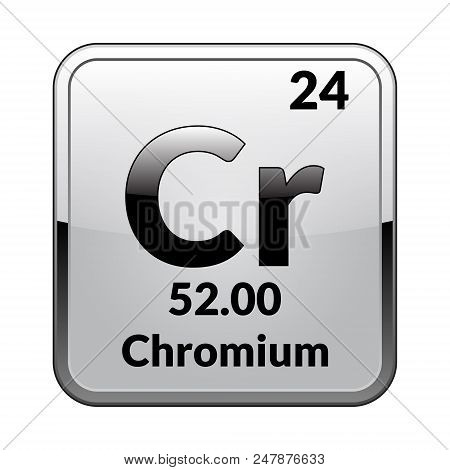 Chromium Symbolemical Element Of The Periodic Table On A