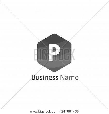 Letter P Logo Template Design, Minimalist letter P, Letter P Logo Modern stock photo