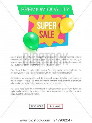 Premium quality super hot prices promo sticker balloons and brush splashes web online poster, final wholsale with total discounts, blowing off of price stock photo