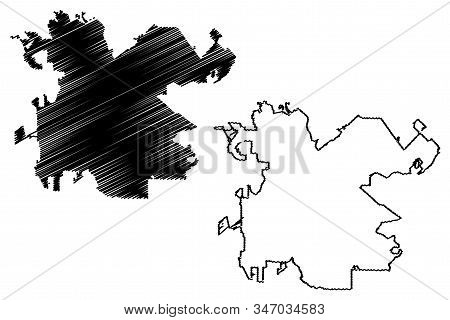 Macon City, Georgia (United States cities, United States of America, usa city) map vector illustration, scribble sketch City of Macon map stock photo