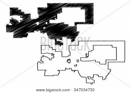 Palmdale City, California (United States cities, United States of America, usa city) map vector illustration, scribble sketch City of Palmdale map stock photo