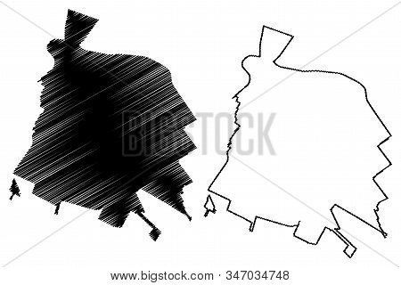 Salinas City, California (United States cities, United States of America, usa city) map vector illustration, scribble sketch City of Salinas map stock photo