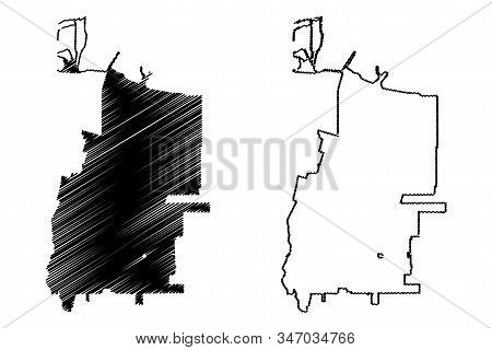 Sunnyvale City, California (United States cities, United States of America, usa city) map vector illustration, scribble sketch City of Sunnyvale map stock photo