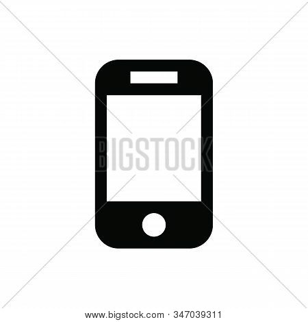 Mobile phone icon isolated on white background. Mobile phone icon in trendy design style. Mobile phone vector icon modern and simple flat symbol for web site, mobile, logo, app, UI. Mobile phone icon vector illustration, EPS10. stock photo