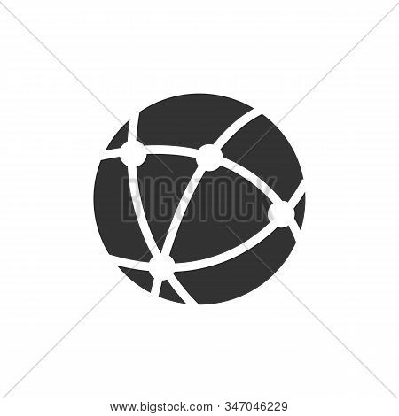 Internet icon isolated on white background. Internet icon simple sign. Internet icon trendy and modern symbol for graphic and web design. Internet icon flat vector illustration for logo, web, app, UI stock photo