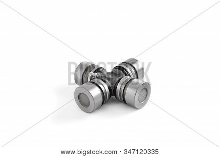 joint automobile cross, auto parts on a white background close-up stock photo