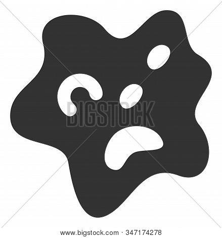 Raster amoeba flat icon. Raster pictogram style is a flat symbol amoeba icon on a white background. stock photo