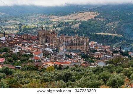 Royal Monastery of Santa Maria de Guadalupe. Caceres, Spain. UNESCO World Heritage Site. stock photo