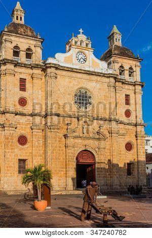 Cartagena , Colombia - March 9, 2017 : Centro Historico area of Cartagena de los indias Bolivar in Colombia South America stock photo