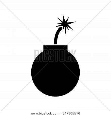 Bomb icon vector isolated on white background, Bomb icon design illustration, Bomb icon simple sign for web, app, logo, template, business. stock photo