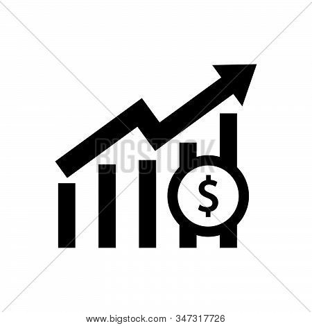 Profit graph icon isolated on white background. Profit graph icon in trendy design style. Profit graph vector icon modern and simple flat symbol for web site, mobile, logo, app, UI. Profit graph icon vector illustration, EPS10. stock photo