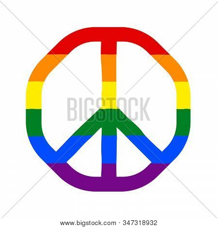 peace sign lgbt no background vector illustration stock photo