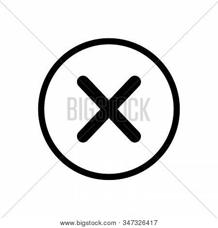 Close button icon isolated on white background. Close button icon in trendy design style. Close button vector icon modern and simple flat symbol for web site, mobile, logo, app, UI. Close button icon vector illustration, EPS10. stock photo