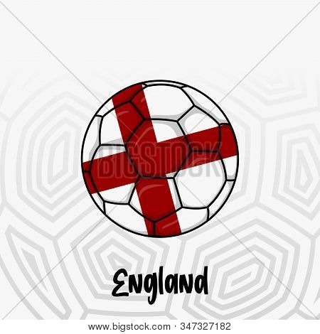Ball Flag of England, Football championship banner, Vector illustration of abstract soccer ball with England national flag colors for template design stock photo