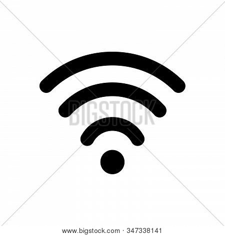 Wifi signal icon isolated on white background. Wifi signal icon in trendy design style. Wifi signal vector icon modern and simple flat symbol for web site, mobile, logo, app, UI. Wifi signal icon vector illustration, EPS10. stock photo