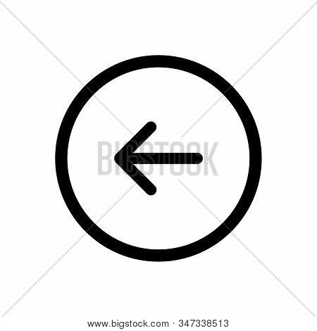 Back button icon isolated on white background. Back button icon in trendy design style. Back button vector icon modern and simple flat symbol for web site, mobile, logo, app, UI. Back button icon vector illustration, EPS10. stock photo