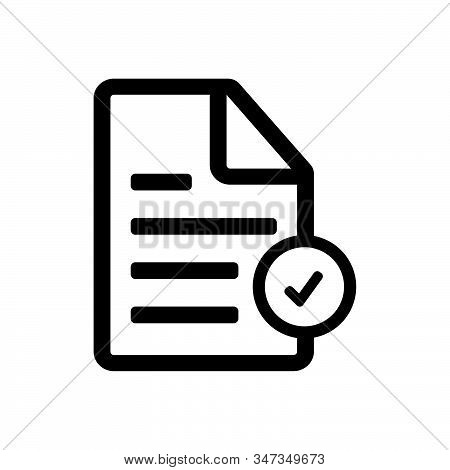 Check list icon isolated on white background. Check list icon in trendy design style. Check list vector icon modern and simple flat symbol for web site, mobile, logo, app, UI. Check list icon vector illustration, EPS10. stock photo