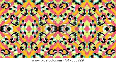 Green Leopard Skin Vector Seamless Pattern. Pink Leopard Safari African Design. Green Cheetah Skin Camouflage Design. African Abstract Animal Print. Green Cheetah Pattern stock photo