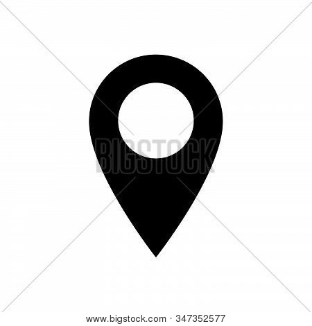 Location icon isolated on white background. Location icon in trendy design style. Location vector icon modern and simple flat symbol for web site, mobile, logo, app, UI. Location icon vector illustration, EPS10. stock photo