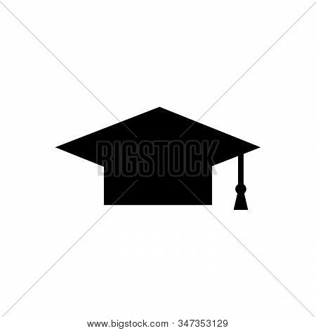 Graduation cap icon isolated on white background. Graduation cap icon in trendy design style. Graduation cap vector icon modern and simple flat symbol for web site, mobile, logo, app, UI. Graduation cap icon vector illustration, EPS10. stock photo