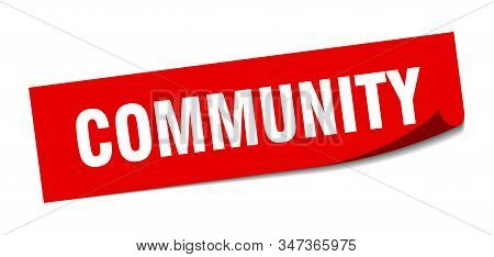 community sticker. community square isolated sign. community stock photo