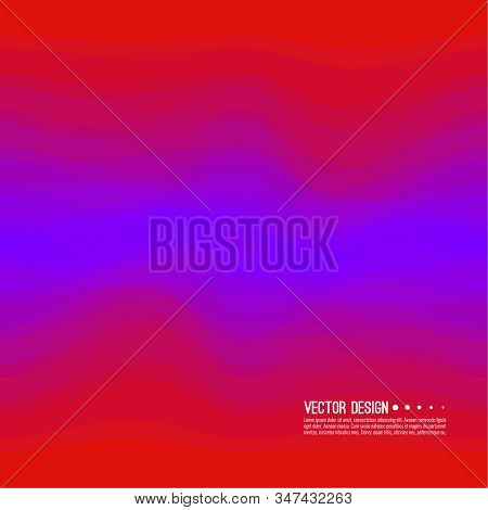 Distorted wave colorful texture. Abstract dynamical rippled surface. Vector stripe deformation background. Transition and gradation of color. stock photo