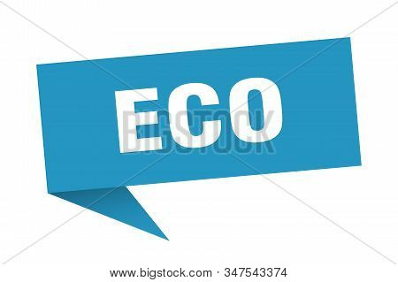 eco speech bubble. eco sign. eco banner stock photo