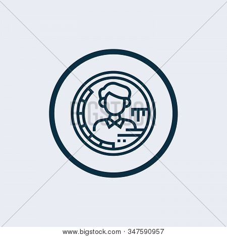 Target icon isolated on white background. Target icon simple sign. Target icon trendy and modern symbol for graphic and web design. Target icon flat vector illustration for logo, web, app, UI. stock photo
