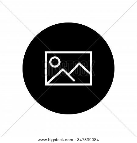 Picture icon isolated on black background. Picture icon in trendy design style. Picture vector icon modern and simple flat symbol for web site, mobile, logo, app, UI. Picture icon vector illustration, EPS10. stock photo