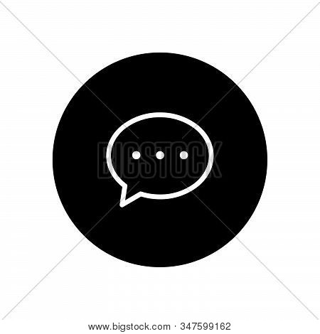Chat icon isolated on black background. Chat icon in trendy design style. Chat vector icon modern and simple flat symbol for web site, mobile, logo, app, UI. Chat icon vector illustration, EPS10. stock photo