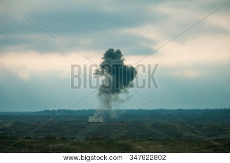 air force jets bombing targets at the military trainings stock photo