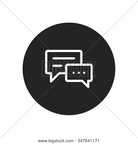Speech bubble icon isolated on black background. Speech bubble icon in trendy design style. Speech bubble vector icon modern and simple flat symbol for web site, mobile, logo, app, UI. Speech bubble icon vector illustration, EPS10. stock photo